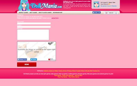 Screenshot of Contact Page dollmania.com - DOLLMANIA.com - Contact us - captured Oct. 7, 2018