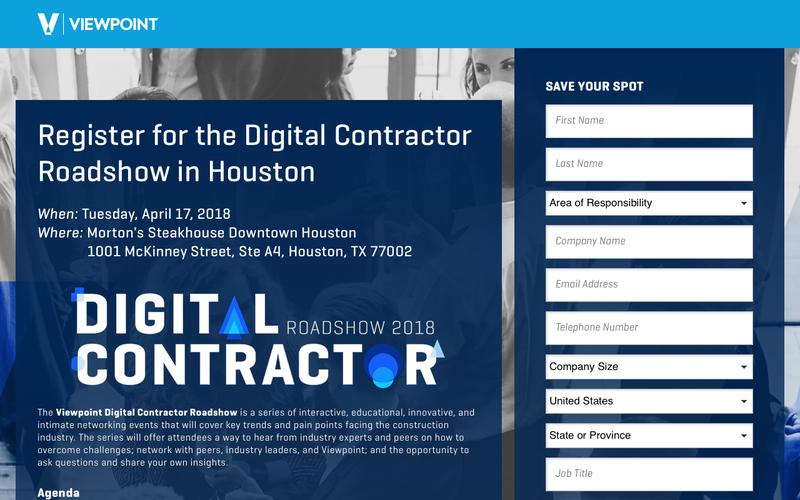 Register for the Digital Contractor Roadshow in Houston