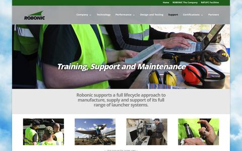 Screenshot of Support Page robonic.fi - Training, Support and Maintenance - Robonic - captured Feb. 22, 2016