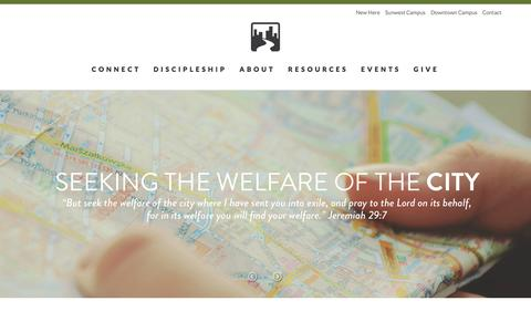 Screenshot of Home Page harriscreek.org - Home - Harris Creek Baptist Church - captured Oct. 2, 2014