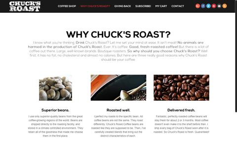 Screenshot of Services Page chucksroast.com - Why Chuck's Roast? | Chuck's Roast Coffee - captured Nov. 4, 2018