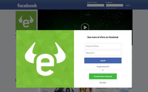 Screenshot of Facebook Page facebook.com - eToro - Home | Facebook - captured Jan. 2, 2018