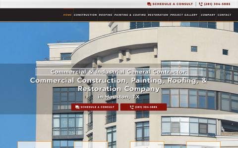 Screenshot of Home Page kcsinc.net - Houston General Contractor | Commercial & Industrial Construction - captured Nov. 15, 2018