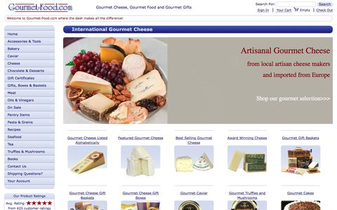 Screenshot of Home Page gourmet-food.com - Buy Gourmet Cheese, French Cheese, Artisanal Cheese and Gourmet Gift Baskets - captured Nov. 12, 2016