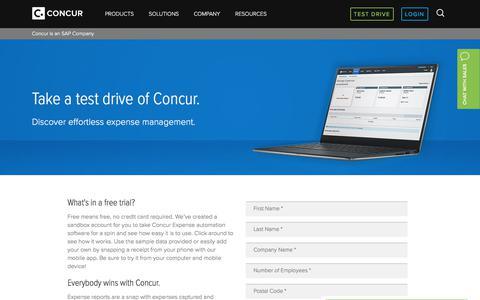 Test Drive Concur® Expense - Concur