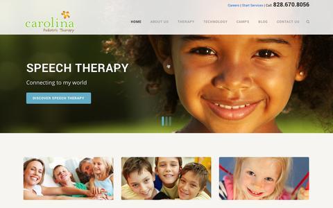Screenshot of Home Page carolinapeds.com - Carolina Pediatric Therapy - captured Oct. 2, 2014