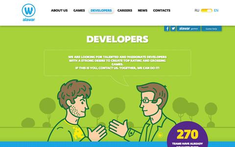 Screenshot of Developers Page alawar.com - Alawar — Developers - captured Sept. 13, 2014