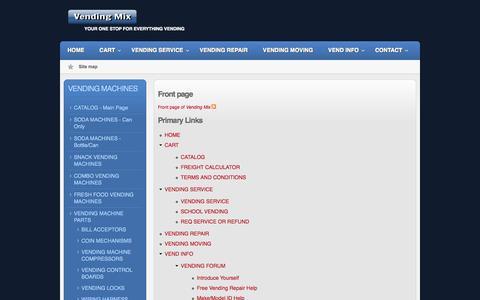 Screenshot of Site Map Page vendingmix.com - Site map | Vending Mix - captured Oct. 26, 2014