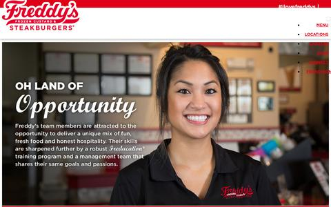 Screenshot of Jobs Page freddysusa.com - Join the Freddy's Team - captured June 11, 2019