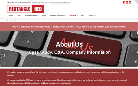 Screenshot of About Page rectanglered.com - About Rectangle Red - UK Software Development Company - captured Nov. 8, 2017