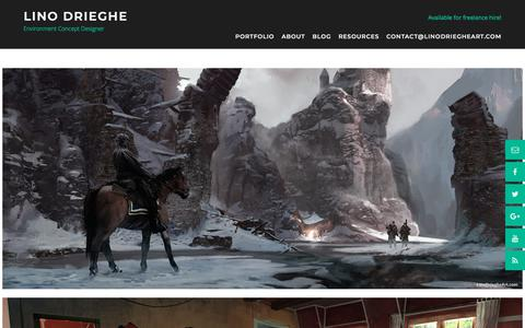Screenshot of Home Page linodriegheart.com - Portfolio - Lino Drieghe - captured July 20, 2018