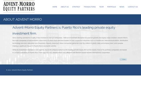 Screenshot of About Page adventmorro.com - About Us    | Equity Partners - captured Nov. 12, 2018