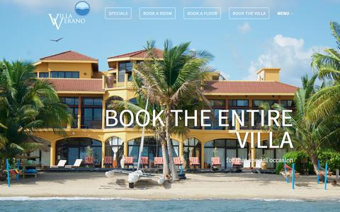 Screenshot of Home Page villaveranobelize.com - Villa Verano Belize - Hopkins Luxury Beach Resort - captured Sept. 20, 2018