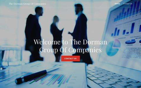 Screenshot of Home Page dormangroupofcompanies.com - The Dorman Group Of Companies - captured Oct. 20, 2018