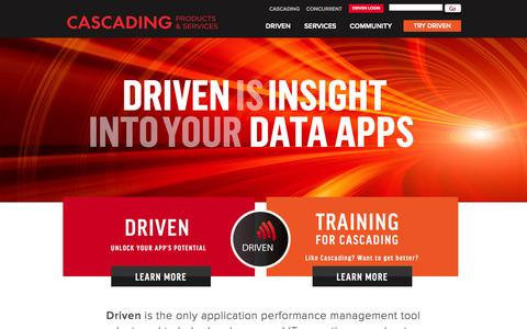 Screenshot of Home Page cascading.io - Cascading Products, Training and Services - captured Jan. 26, 2015