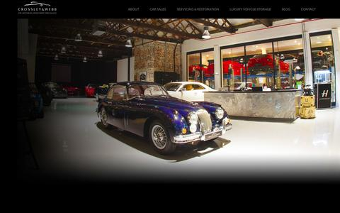 Screenshot of Home Page crossley-webb.com - Crossley & Webb   The motoring investment specialists - captured Oct. 3, 2014