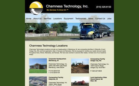 Screenshot of Locations Page chamnesstechnology.com - Locations - captured Nov. 4, 2016