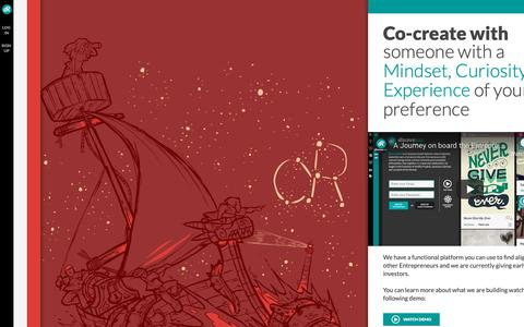 Screenshot of Home Page discovereel.com - Discovereel - Alignment of mindsets to build what you love - captured Nov. 27, 2018