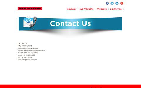 Screenshot of Contact Page tazkmazter.com - Contact Us - captured June 12, 2017