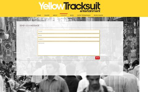 Screenshot of Contact Page yellowtracksuit.com - Yellow Tracksuit Entertainment Contact - captured Dec. 3, 2016