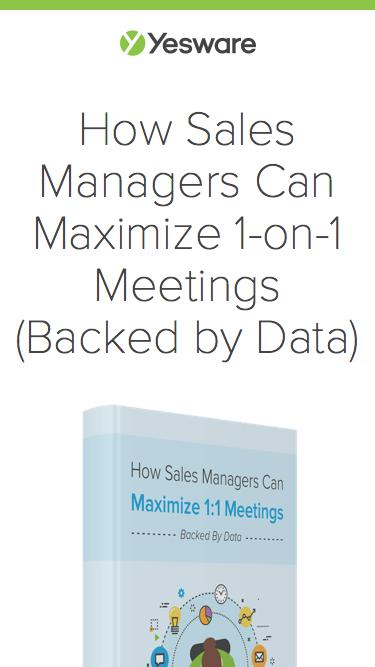 How Sales Managers Can Maximize 1-on-1 Meetings (Backed by Data) | Yesware