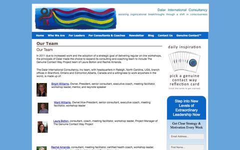 Screenshot of Team Page dalarinternational.com - Our Team   Dalar International Consultancy Inc. - captured Oct. 5, 2014