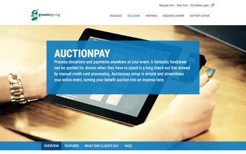 Auctionpay | Accept Donations and Credit Cards at Your Event - Greater Giving
