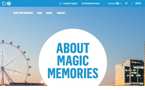 Screenshot of About Page magicmemories.com - About Us - Magic Memories - captured Sept. 27, 2018