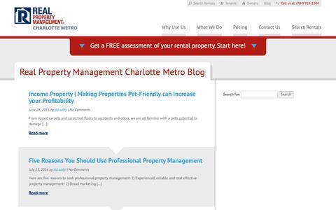 Screenshot of Blog rpmcm.com - Charlotte NC Property Management Blog   Real Property Management Charlotte Metro - captured Oct. 18, 2018