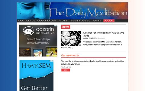 Screenshot of Press Page thedailymeditation.com - | The Daily Meditation %% - captured Oct. 30, 2014