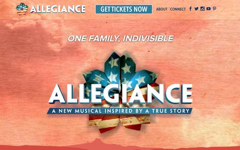 Screenshot of Home Page allegiancemusical.com - Allegiance - A New Broadway Musical - Official Broadway Site - captured June 18, 2015
