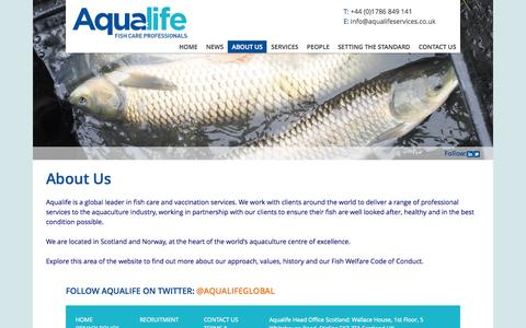 Screenshot of About Page aqualifeservices.com - About Us - Aqualife Services - captured Oct. 4, 2014
