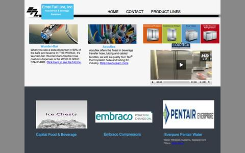 Screenshot of Products Page ernstline.com - Welcome to Ernst Full Line Inc. Product Lines - captured Jan. 30, 2016