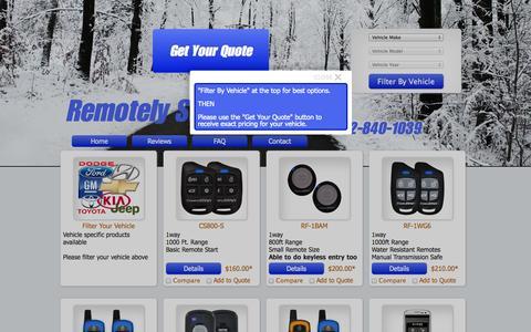 Screenshot of Home Page remotelystartedmn.com - Remotely Started MN - Remote Car Starter Installation in Apple Valley - captured Oct. 7, 2014
