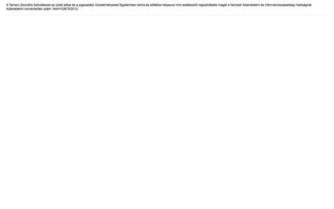 Screenshot of Privacy Page tamaru.hu - ÁSZF - captured Oct. 7, 2014