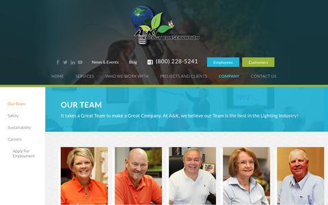 Screenshot of Team Page akenergy.com - Our Team - AK Energy - captured Nov. 11, 2018