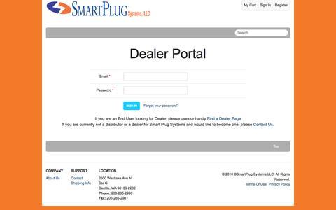 Screenshot of Login Page smartplug.com - Sign In SmartPlug Systems LLC - captured Nov. 19, 2016