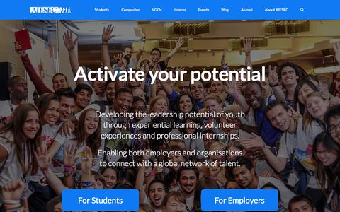 Screenshot of Home Page aiesec.vn - AIESEC in Vietnam | - captured Sept. 7, 2015