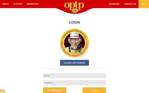 Screenshot of Login Page optp.biz - OPTP - captured Oct. 20, 2017