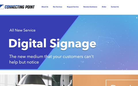 Screenshot of Home Page connectingpoint.biz - IT Managed Services | United States | Connecting Point Computer Center - captured Dec. 15, 2018