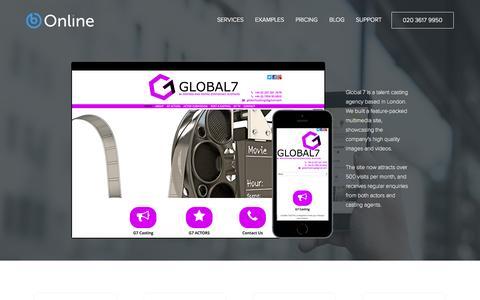 Screenshot of Case Studies Page bonline.com - Small business websites   bOnline - captured Nov. 3, 2014