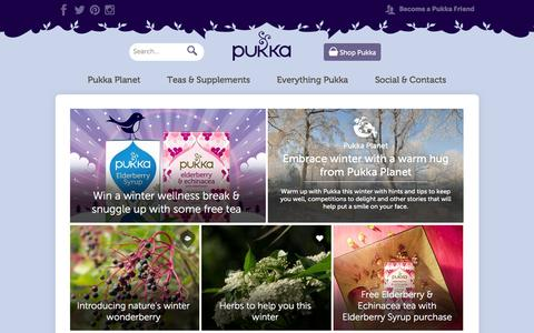 Screenshot of Home Page pukkaherbs.com - Pukka Herbs - captured Dec. 13, 2015