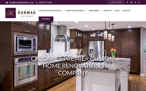 Screenshot of Team Page kurmakbuilders.com - Our Team   Kurmak Builders   Home Renovations Calgary - captured Oct. 16, 2018