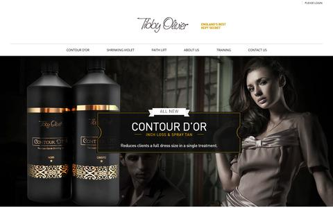 Screenshot of Home Page tibbyolivier.ca - Tibby Oliver | Innovative Organic Cosmetics - captured Oct. 6, 2014