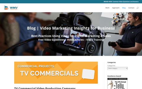 Screenshot of Blog wemakevideos.com - Blog | Video Marketing Insights for Business | WMV Video Productions - captured Nov. 7, 2017