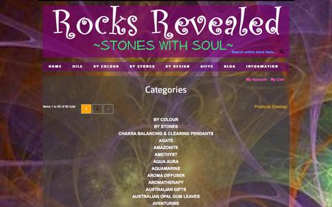 Screenshot of Site Map Page rocksrevealed.com - Site Map - captured Oct. 6, 2014