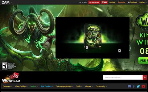 Screenshot of Home Page wowhead.com - Wowhead: Makes rainy days go away. - captured Aug. 14, 2016