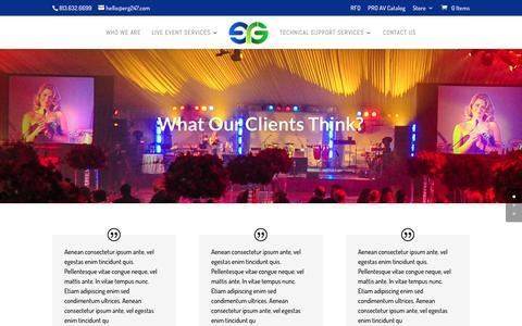 Screenshot of Testimonials Page erg247.com - Testimonials | ERG247 - Event Resource Group - captured Dec. 1, 2016