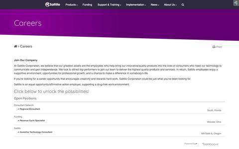 Screenshot of Jobs Page saltillo.com - Careers - captured Oct. 2, 2018