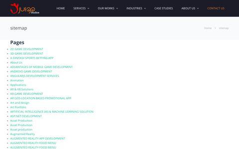 Screenshot of Site Map Page juegostudio.com - sitemap - Juego Studio - captured July 13, 2018